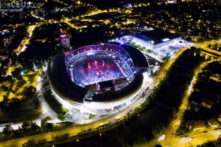 UNTOLD FESTIVAL: VEZI cele mai TARI fotografii aeriene. Cluj Arena aproape plin