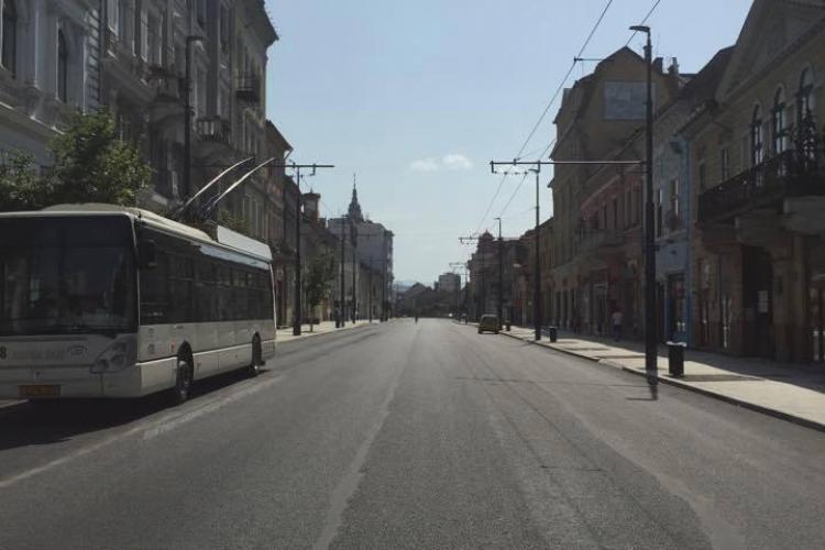 Circulația în centrul Clujului, deviată din cauza lucrărilor de pe Moților. Ce anunță Primăria