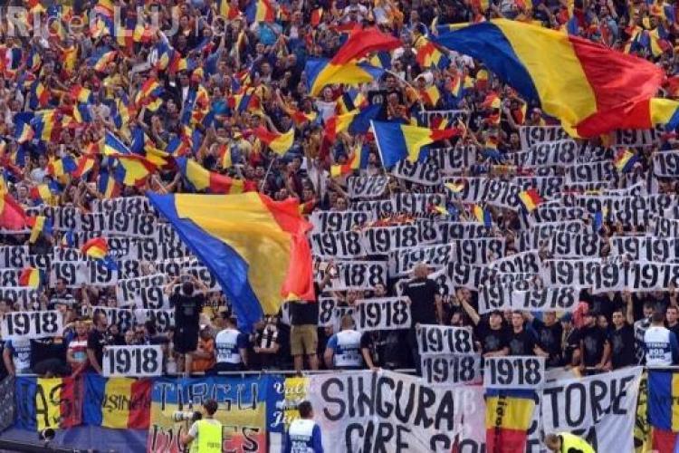 UNGARIA - ROMANIA. Suporterii U Cluj agită spiritele pe stadionul din Budapesta