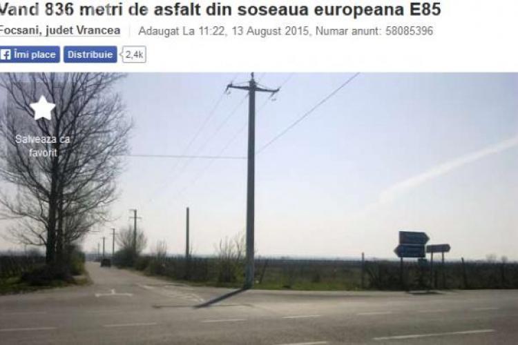Un român vinde UN KILOMETRU dintr-un drum european