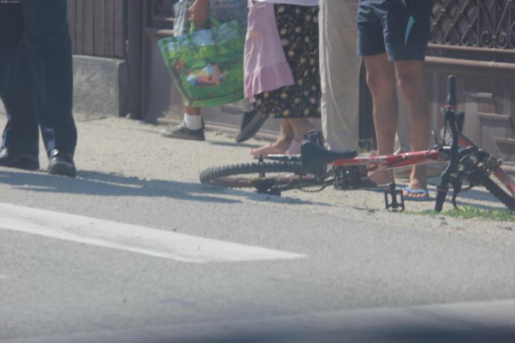 Accident în Apahida! O fetiță a fost rănită pe trecerea de pietoni - FOTO