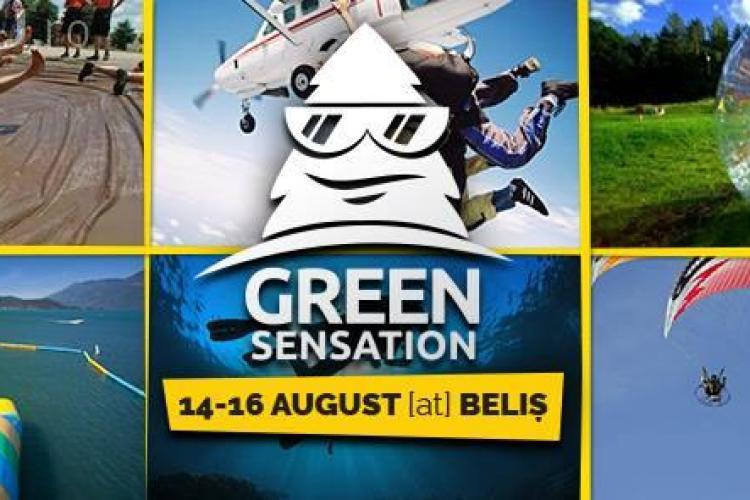 "Green Sensation. Festival ""outdoor"" la Belis cu skydiving și water slide"