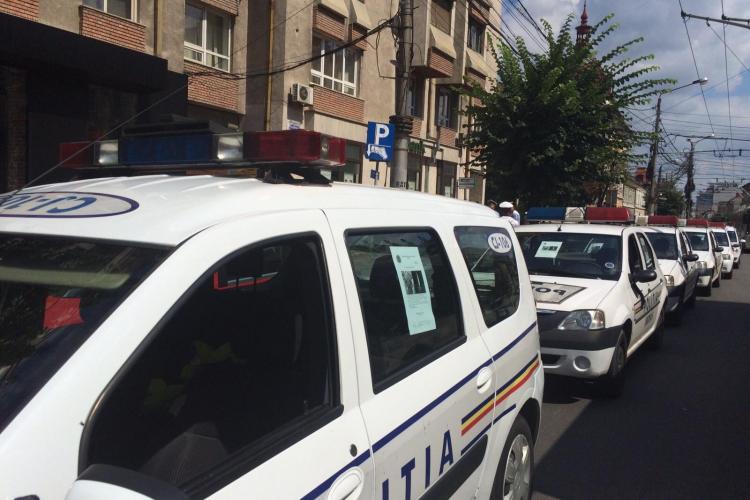 Polițiștii din Cluj au făcut un MARȘ comemorativ pentru colegul lor omorât de afaceristul turc - FOTO