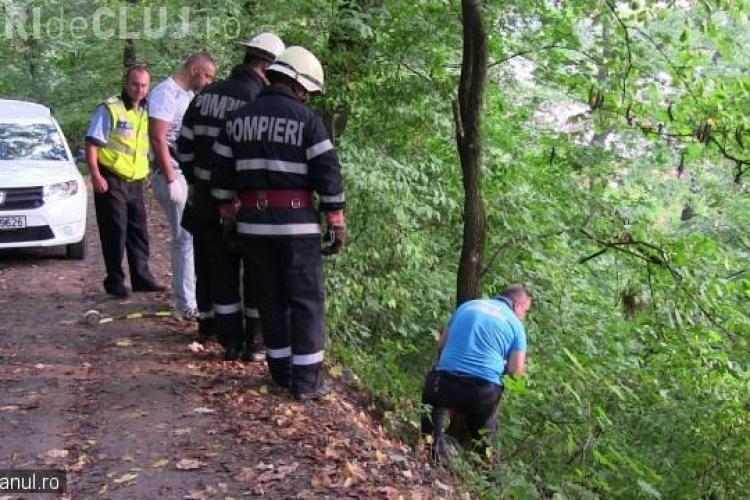 Descoperire macabră, într-o pădure din Dej. O femeie a fost găsită spânzurată într-un copac VIDEO
