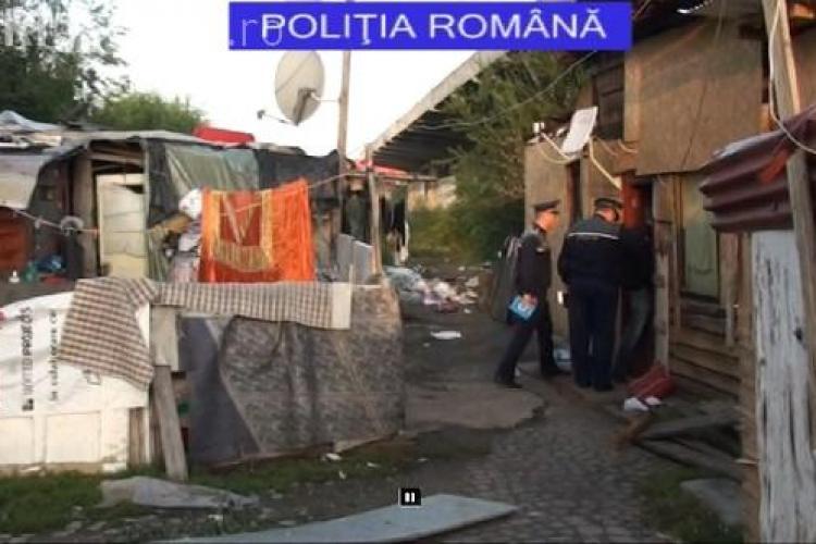 Razie de amploare la rromii de pe calea Dezmirului. Ce au găsit polițiștii VIDEO