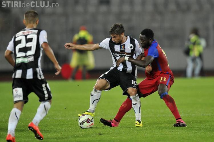 Steaua a fost salvată la Cluj de rușine. Universitatea Cluj a câștigat moral - REZUMAT VIDEO