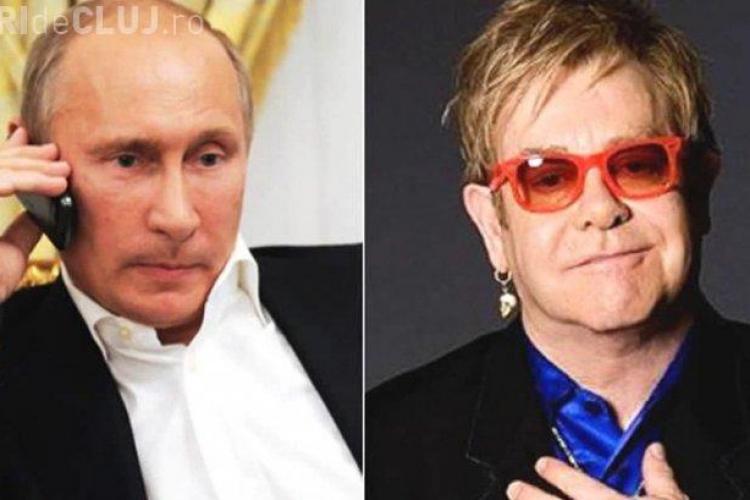 FARSĂ: Elton John credea că stă de vorbă cu Putin, despre drepturile comunității gay