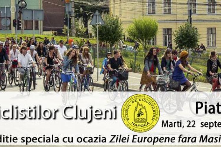Bicicliștii protestează marți la Cluj! Pe ce traseu vor circula