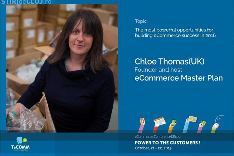 Invață sa atragi clienți noi de la unul din primii 10 analiști de eCommerce din lume. Chloë Thomas, prima dată la Cluj - INTERVIU