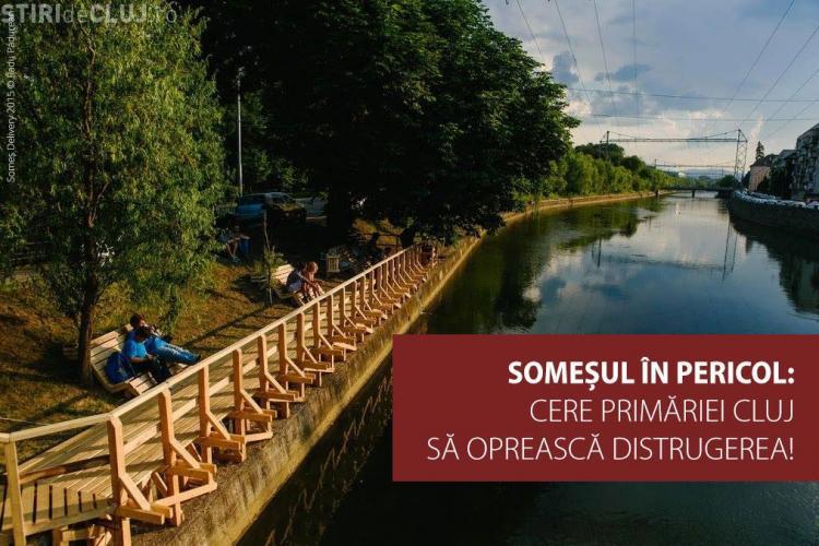 Petiție la Cluj: Sunteți de acord cu acoperirea Someșului pentru a face o bandă suplimentară de drum