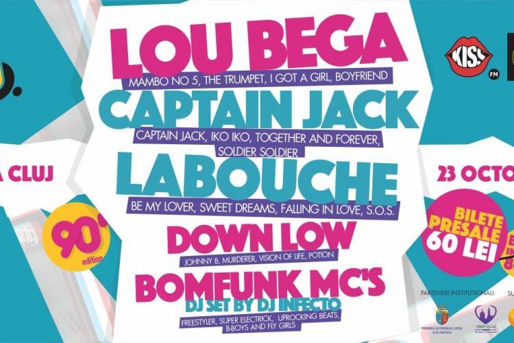 LOU BEGA, LA BOUCHE, BOMFUNK MC'S aduc la Cluj, LIVE, discoteca anilor '90. Ce BILETE mai sunt de vânzare