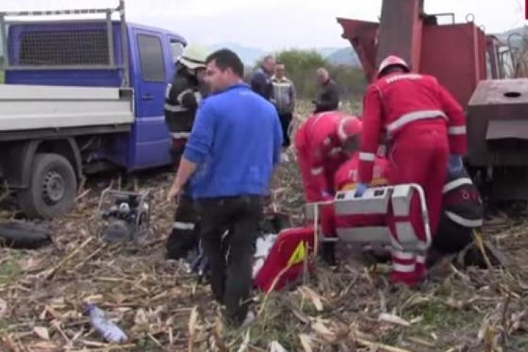 Tânăr clujean, mutilat pe viață de o mașină de cules porumb VIDEO