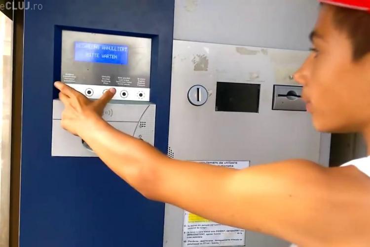 Ce a pățit o clujeancă la automatul de plată a parcării din Piața Unirii: Mi-a fost frică ...