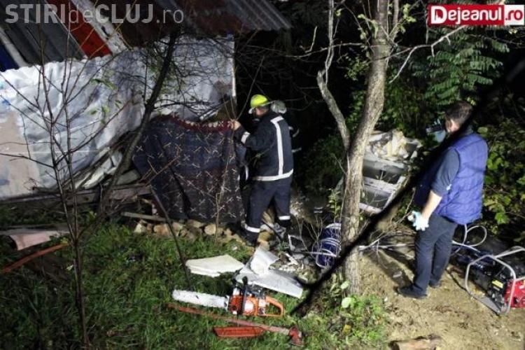 Accident de muncă mortal! Un clujean a fost strivit de cabana la care lucra VIDEO