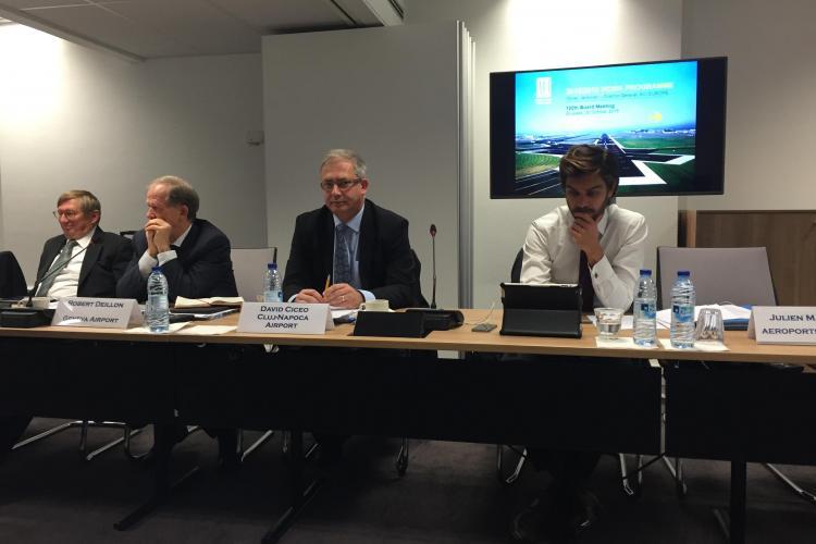Directorul Aeroportului Cluj, David Ciceo, participă la şedinţa cu numărul 100 a Comitetului Director ACI Europa
