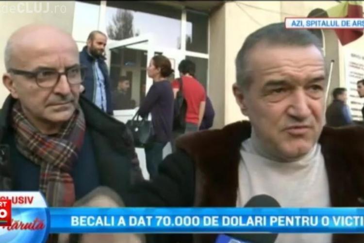 Becali a plătit tratamentul în străinătate unei victime de la Colectiv, în valoare de 70.000 dolari. Vrea să ajute și restul răniților