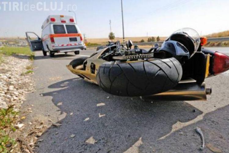 Motociclist RĂNIT GRAV la Cluj! Șoferul era BEAT și spune că nu l-a văzut