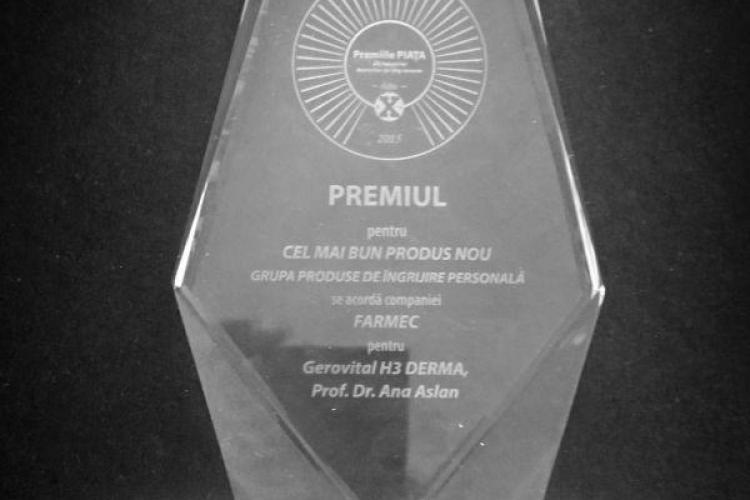 Gama Gerovital H3 DERMA+ Prof. Dr. Ana Aslan, declarat cel mai bun produs nou de îngrijire personală la Premiile Piața 2015 (P)