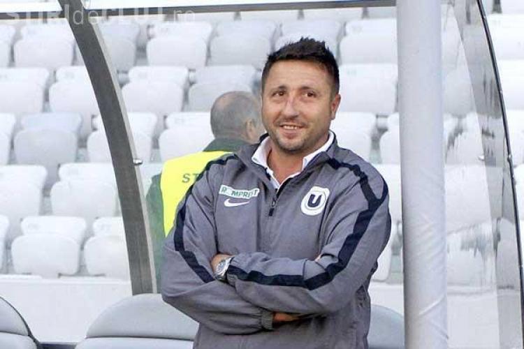 """Marius Popescu a fost dat afară de la """"U"""" Cluj. Jucătorii i-au făcut un banner de susținere"""