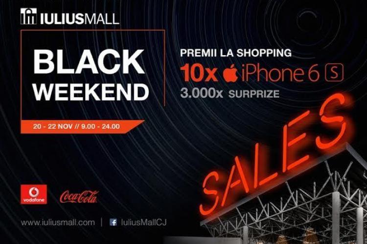 Premii COOL la Iulius Mall Cluj, de Black Weekend SALES. Se pun la bătaie 10 iPhone 6S și 3.000 de alte cadouri (P)
