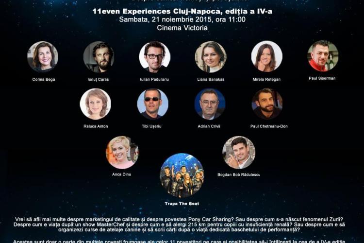 11even Experiences Cluj: 11 oameni frumoşi îşi spun poveştile în scop caritabil