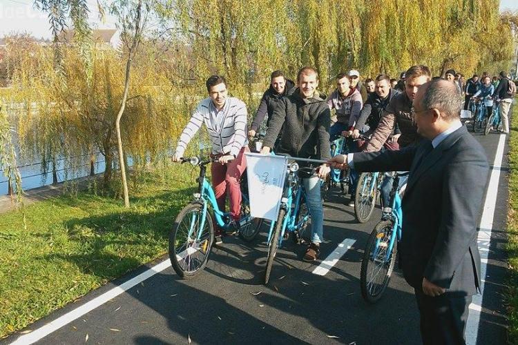 La Cluj s-a dat în folosință proiectul de bike sharing. Invitat special a fost Cristian Gog - VIDEO
