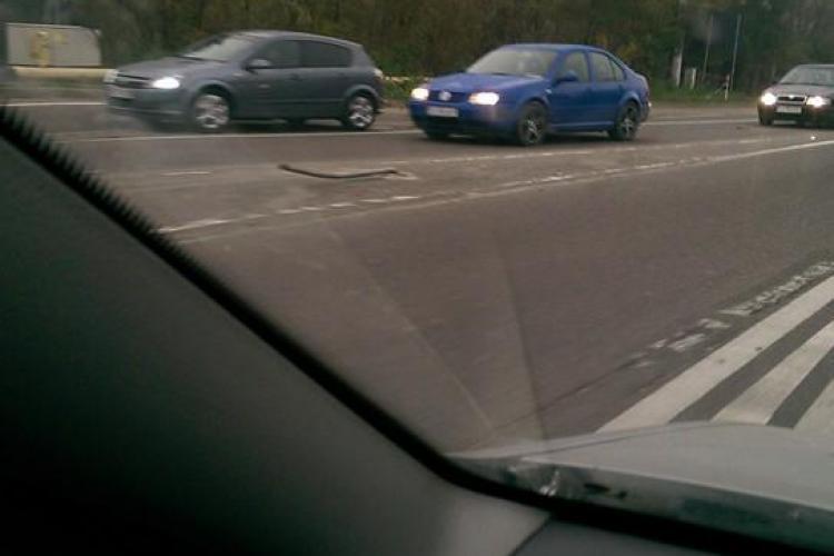 Accident la rând, în Florești, la sensul giratoriu de la BMW - FOTO