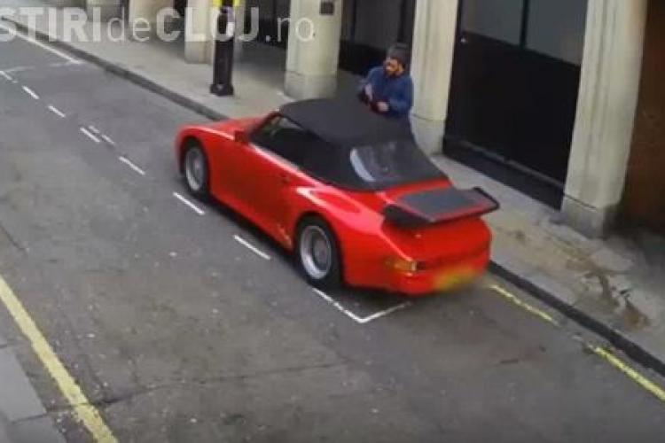 Cum a încercat un hoț să fure două mașini Porsche în doar 20 minute VIDEO