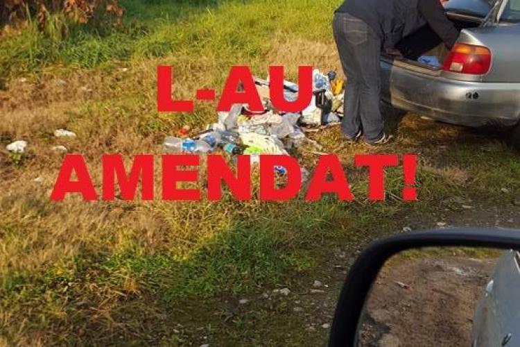 Poliția locală l-a amendat pe nesimțitul care își arunca gunoaiele sub Podul Hingherilor - FOTO