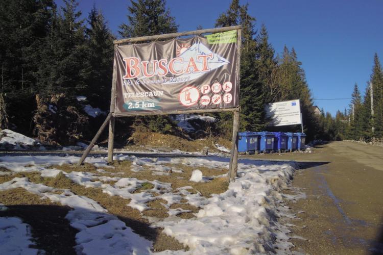 Drumul spre pârtia Buscat a fost pietruit - FOTO
