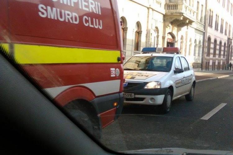 Accident pe o trecere de pietoni de pe Avram Iancu - FOTO