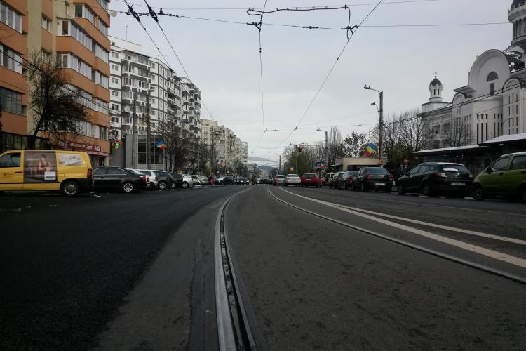 Strada Primăverii din Mănăștur este aproape finalizată - FOTO