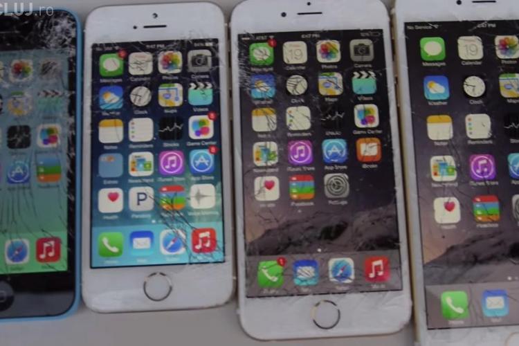 Hoț prost la Cluj. A furat 9 telefoane mobile dintr-un magazin și a distrus 4 din greșeală