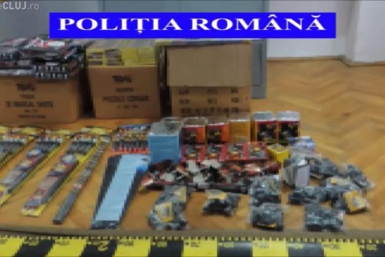 Peste 15.000 de articole pirotehnice confiscate de polițiști la Cluj