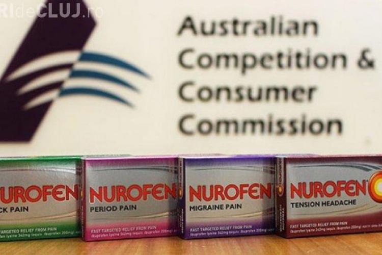 Compania care produce Nurofen, sancţionată pentru că făcea publicitate mincinoasă