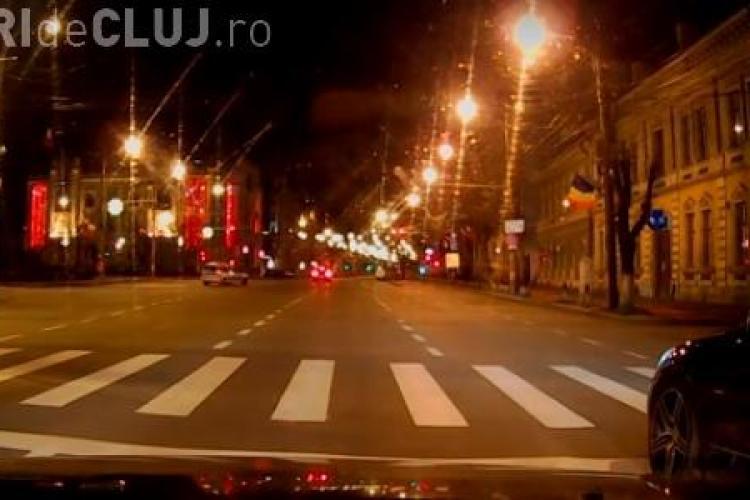 Ce a pățit un clujean care nu a mai avut răbdare să stea la semafor. Era noapte, dar Poliția a acționat - VIDEO