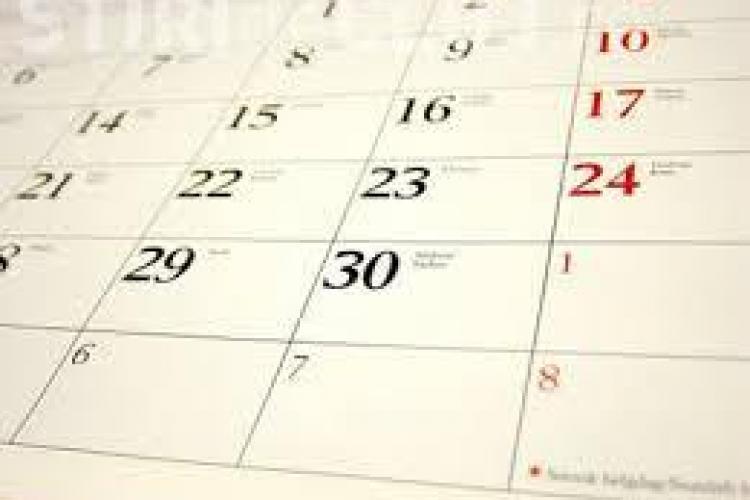 Calendarul zilelor libere din 2016. O bună parte din sărbătorile legale pică în weekend