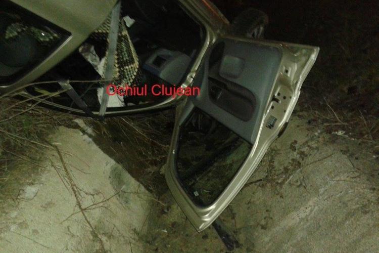 Accident pe centura Apahida! S-a răsturnat cu mașina - FOTO