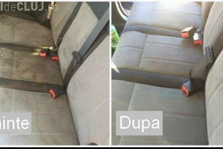 Cum să-ți cureți rapid tapiseria autoturismului