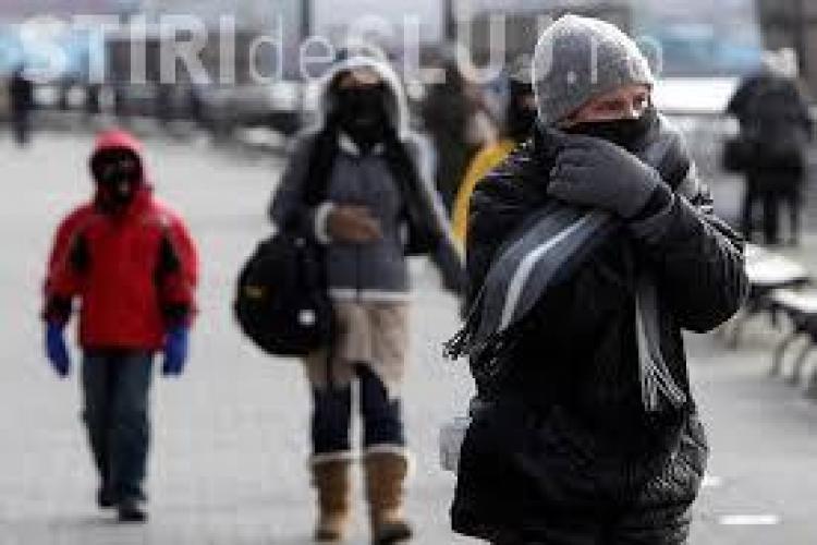 Avertisment de ger și vijelie pentru toată țara. Cât de frig va fi la Cluj