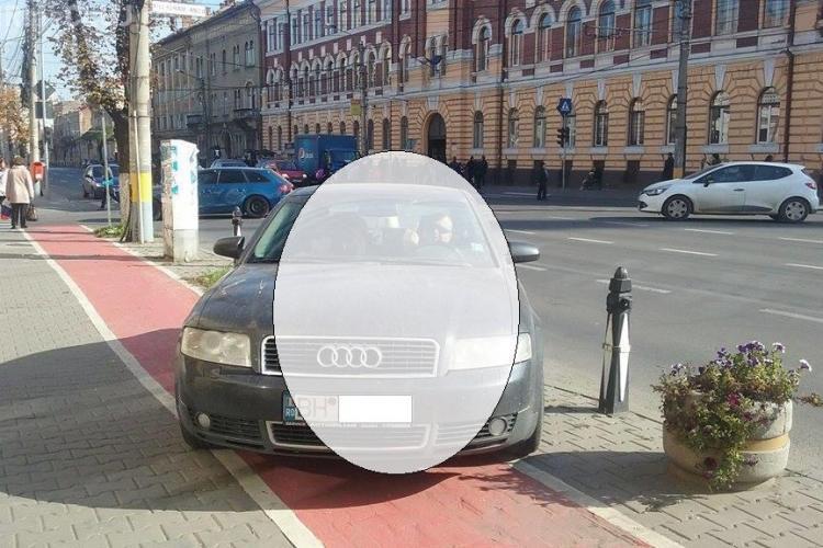 Parcare de gentleman. Ce a făcut un bihorean surprins cu o parcare de BOU - FOTO