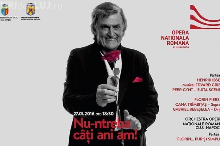 Eveniment special la Opera Cluj pentru a-l sărbători pe Florin Piersic. Primăria a contribuit cu o sumă importantă