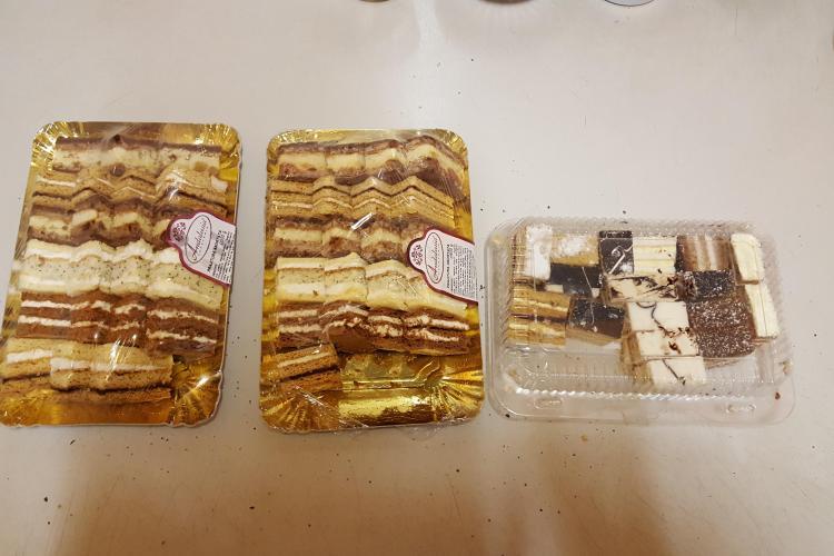 Prăjitură expirată la Billa. OPC Cluj mai există? / UPDATE: Billa susține că nu sunt prăjiturile lor