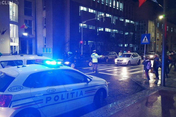 Razie în trafic la Cluj. Nici pietonii nu au scăpat de amenzi FOTO