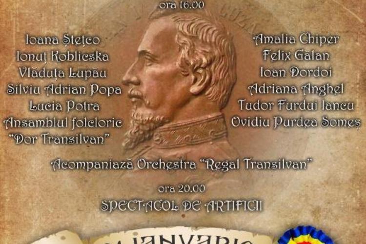Concerte și ARTIFICII în Piața Unirii din Cluj-Napoca, în 24 ianuarie