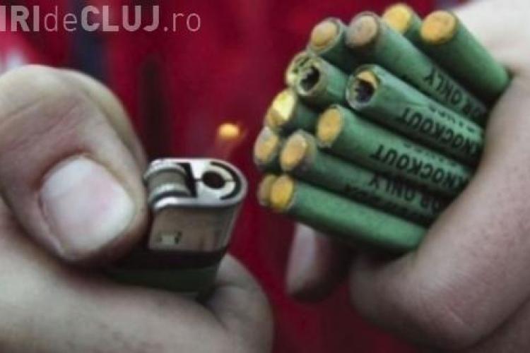 Clujeni prinși de polițiști că foloseau petarde. S-au ales cu dosar penal