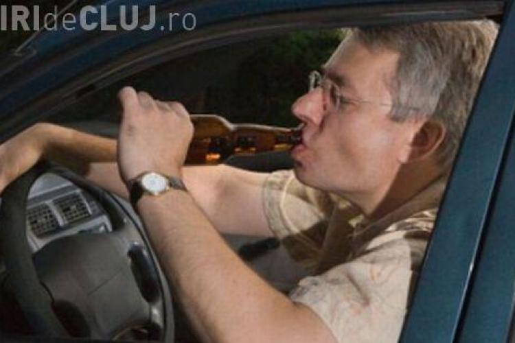 Șofer clujean prins de polițiști după ce a cauzat un accident. Era beat la volan și avea permisul suspendat