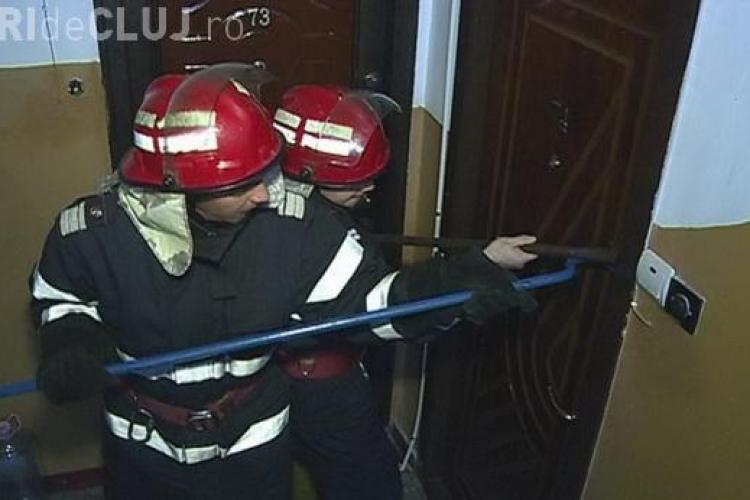 Pompierii au spart o locuință în Cluj-Napoca. Urgența era MAJORĂ