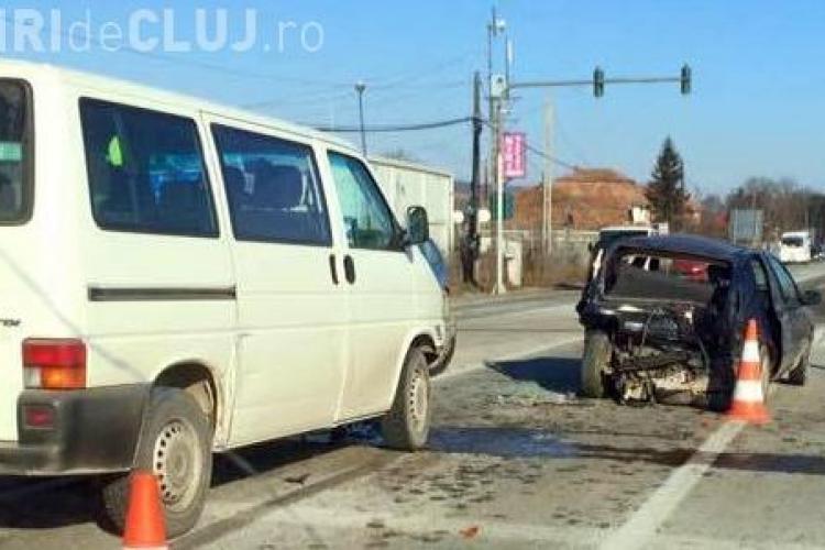 Accident la Jucu. O femeie a fost rănită la intrare în parcul industrial - FOTO