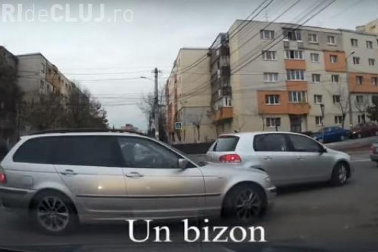 """Altercatie în Mărăști, în sensul giratoriu. """"Bizonii"""", la un pas să se bată - VIDEO"""